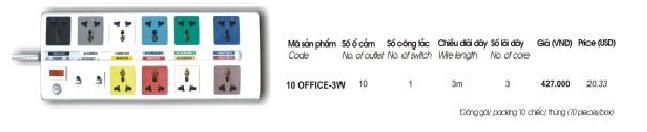 o cam dien da nang 10 lo 3m 10 OFFICE-3W Lioa
