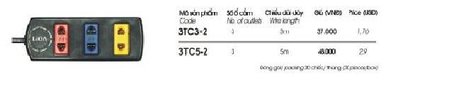 o cam dien 3 lo 3m 3TC3-2 Lioa