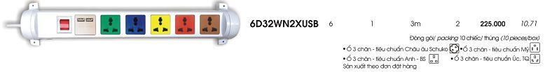 o cam xoay co cong sac USB 6 o 3m 6D32WN2XUSB Lioa