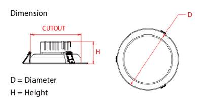 Đèn Led downlight 15W ADL11R157 Panasonic
