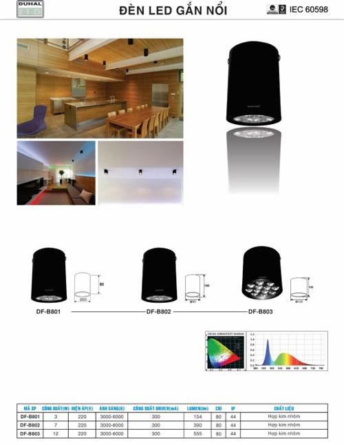Den-led-downlight-gan-noi-Duhal-DF-B801