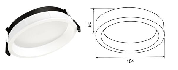 Thong số kỹ thuật đèn led âm trần paragon