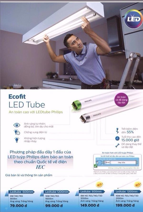 Bóng đèn Led Tube 1m2 16W EcoFit HO Philips