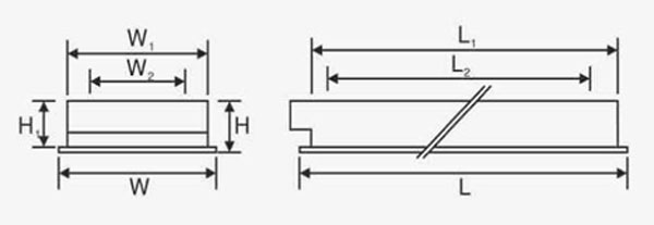 Máng đèn phản quang âm trần T8 4x36W LCA 440 Duhal