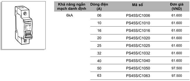 MCB-1P-06A-6KA-PS45S-C1006-Sino