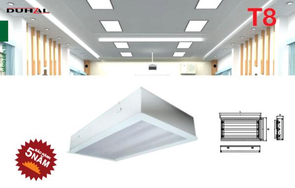 Máng đèn âm trần Mica phòng sạch LLP Duhal