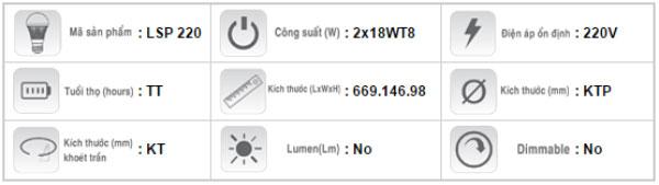 Mang-den-chong-tham-LSP-220-Duhal-2x18W-T8