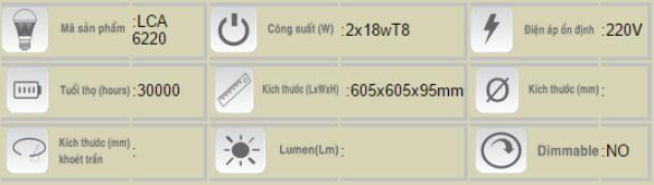 Mang-den-huynh-quang-Duhal-am-tran-LCA-6220-2x18W