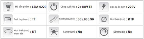 Mang-den-huynh-quang-am-tran-Duhal-LDA-6220-2x18W
