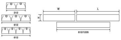 thiết kế kỹ thuật máng đèn lắp nổi