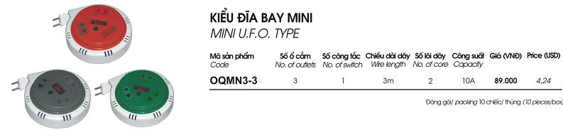o cam quay tay 3 o 3m OQMN3-3 Lioa