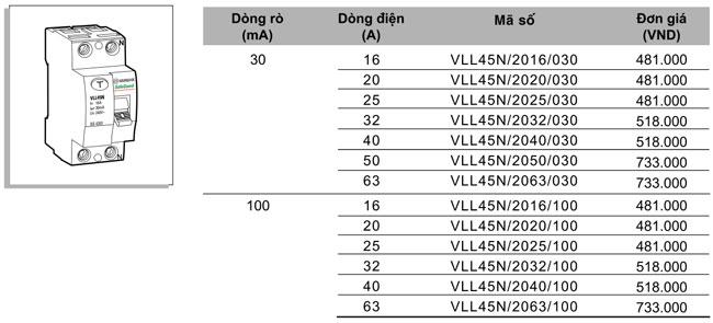 RCCB-2P-25A-30mA-VLL45N-2016-030-Sino