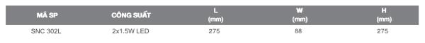 Thông số kỹ thuật đèn khẩn cấp SNC 302L Duhal