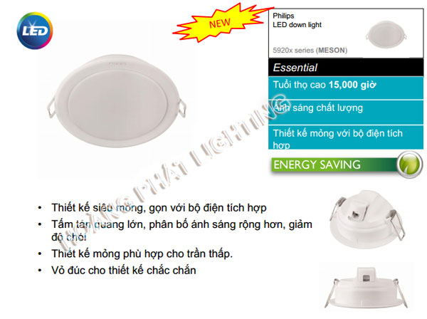 Đèn Led downlight 10W 59203 Philips