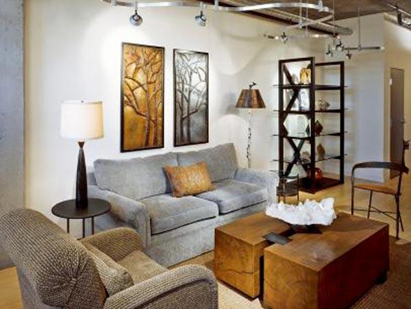Đèn pha Led trang trí phòng khách