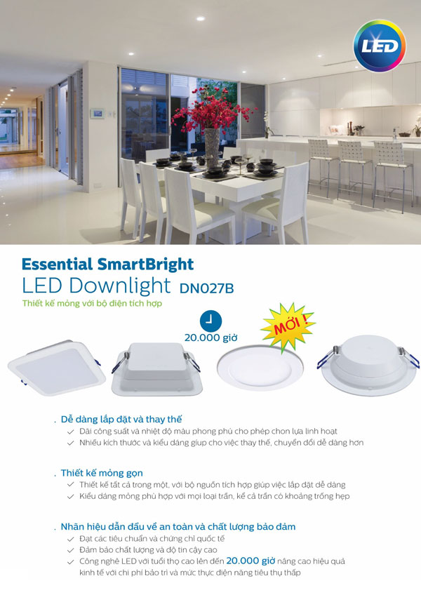 Đèn Led downlight 7W DN027B Philips