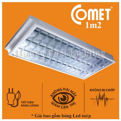 Bộ máng đèn Led âm trần 1m2 1x18W CFR112 Comet