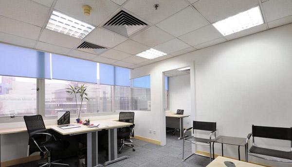 chiếu sáng văn phòng với máng đèn lắp lắp nổi