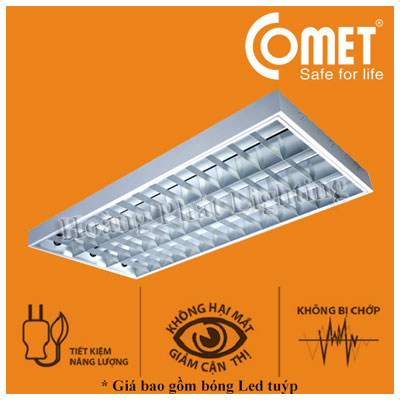 Bộ máng đèn Led lắp nổi 0m6 2x9W CSR206 Comet