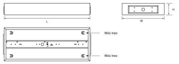 Bộ máng đèn Led lắp nổi 0m6 1x9W CSR106 Comet