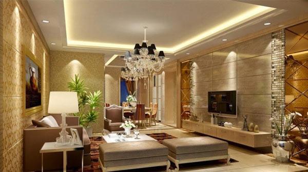 Bộ đèn chiếu sáng ứng dụng phòng khách