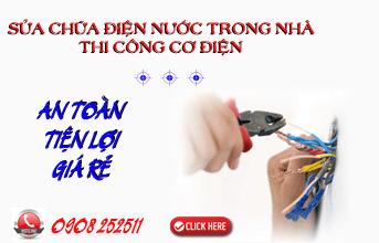 Dịch vụ sửa chữa điện nước trong nhà, thi công cơ điện