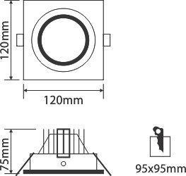 Đèn led ốp trần OLS110L10/30/42/65 Paragon