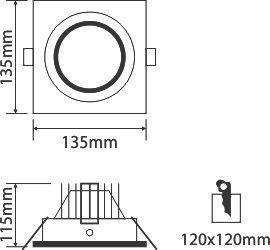 thông số kỹ thuật đèn led ốp trần OLT115L15 30/42/65 Paragon