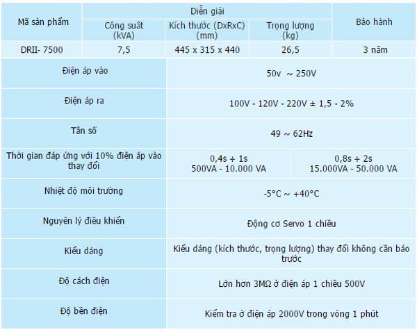 on-ap-Lioa-DRII–7500-7,5KVA-50-260V-1-pha