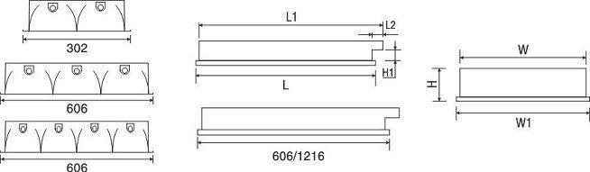 Máng đèn huỳnh quang âm trần PRFE 436 Paragon 4x36W