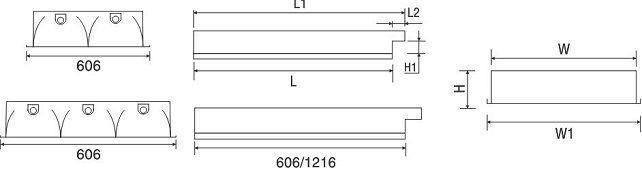Máng đèn huỳnh quang âm trần PRFH 336 Paragon 3x36W
