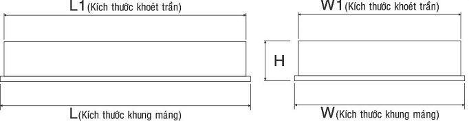 Máng đèn huỳnh quang âm trần PRFM 336 Paragon 3x36W