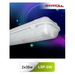 Máng đèn chống thấm LSP 240 Duhal 2x36W T8