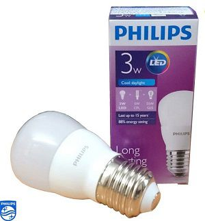 Bóng đèn Led Bulb ESS P45(APR) E27 6500K/3000K 230V 3W Philips