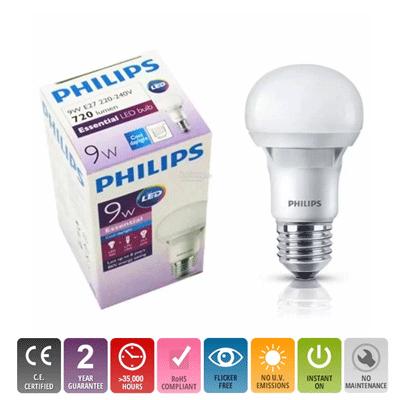 Bóng đèn Led Bulb ESS A60 E27 6500K/3000K 230V 5W Philips