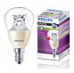 Bóng đèn MAS LED lustre DT 4-25W E14/E27 P48 CL Philips
