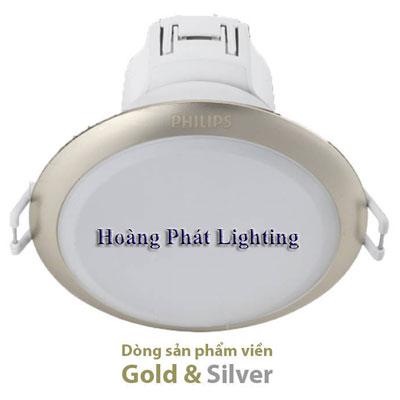 Đèn Led downlight 59373 9W 2700K/4000K/6500K 230V D125 Philips