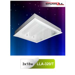 Máng đèn âm trần mica LLA 320/T Duhal