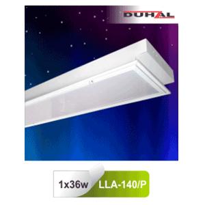 Máng đèn âm trần chụp mica LLA 140/P Duhal