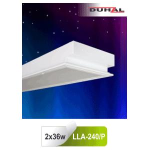 Máng đèn âm trần LLA 240/P Duhal