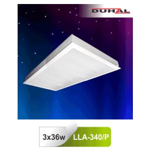 Máng đèn âm trần LLA 340/P Duhal - Chụp Mica 3x36W T8