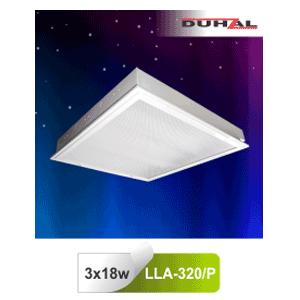 Máng đèn âm trần LLA 320/P Duhal - Chụp Mica 3x18W T8