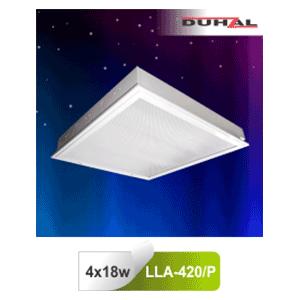 Máng đèn âm trần LLA 420/P Duhal - Chụp Mica 4x18W T8