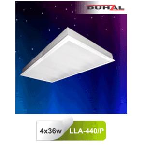 Máng đèn âm trần LLA 440/P Duhal - Chụp Mica 4x36W T8
