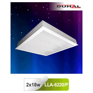 Máng đèn âm trần LLA 6220/P Duhal - Chụp Mica 2x18W T8