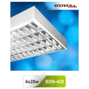 Máng đèn phản quang gắn nổi T5 4x28W SDN 428 Duhal