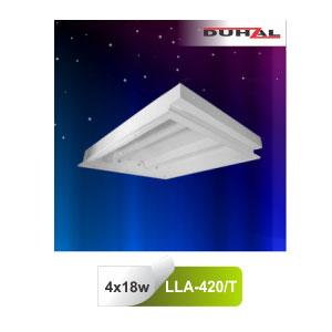 Máng đèn âm trần mica LLA 420/T Duhal