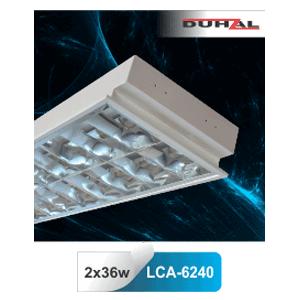 Máng đèn phản quang âm trần T8 2x36W LCA 6240 Duhal
