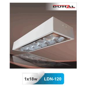 Máng đèn phản quang gắn nổi T8 1x18W LDN 120 Duhal