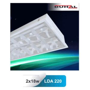 Máng đèn phản quang gắn nổi T8 2x18W LDN 220 Duhal